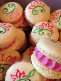 Lemon Raspberry French macrons