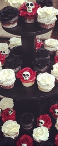 Roses and skalls Cupcakes