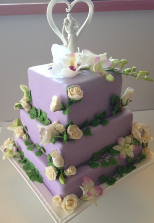 Lavender weddingcake