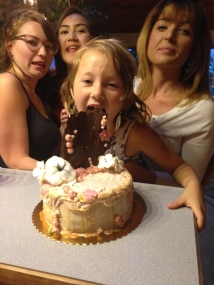 Good times with family and cake