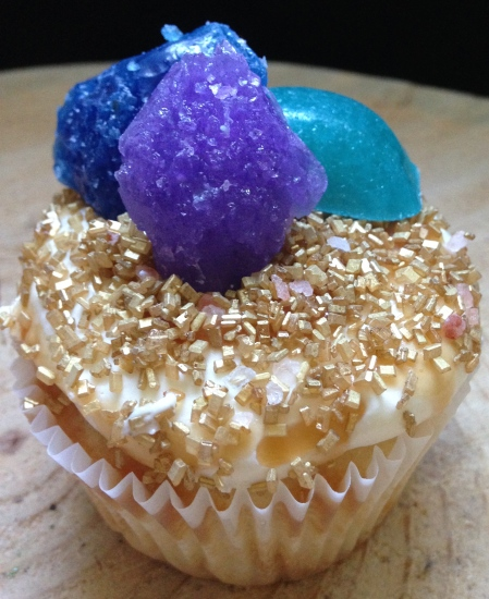 Gems and geodes cupcakes