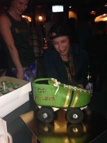 Roller derby birthday party