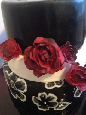Black White and Red cake.