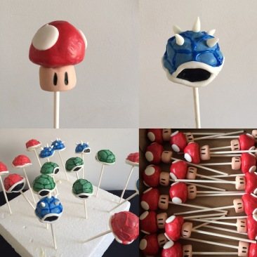 Supper Mario cake pop's