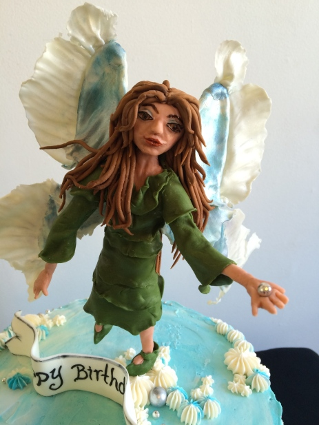 Chocolate mint fairy cake