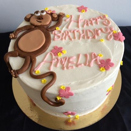 Vanilla cream monkey cake