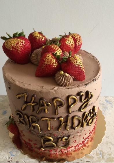Gluten free chocolate strawberry cake