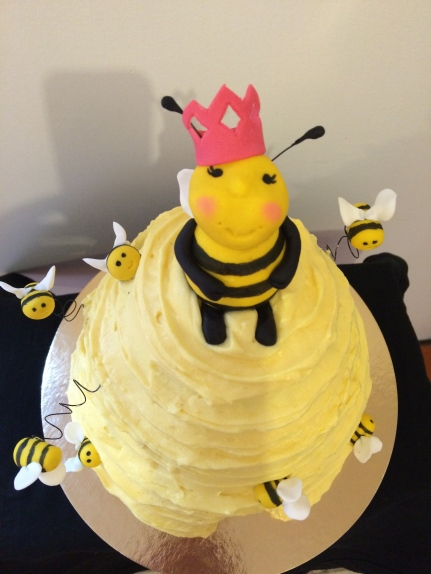 Chocolate lemon Bumble beehive cake,