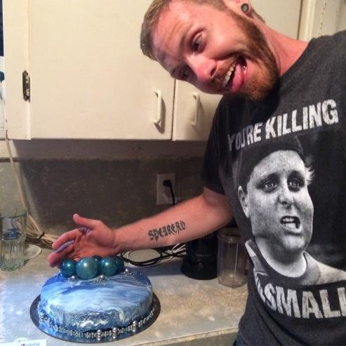 Jamie's Blue balls birthday cake