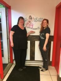 Tara and Brenda at Cake Betty Cafe & Cakery