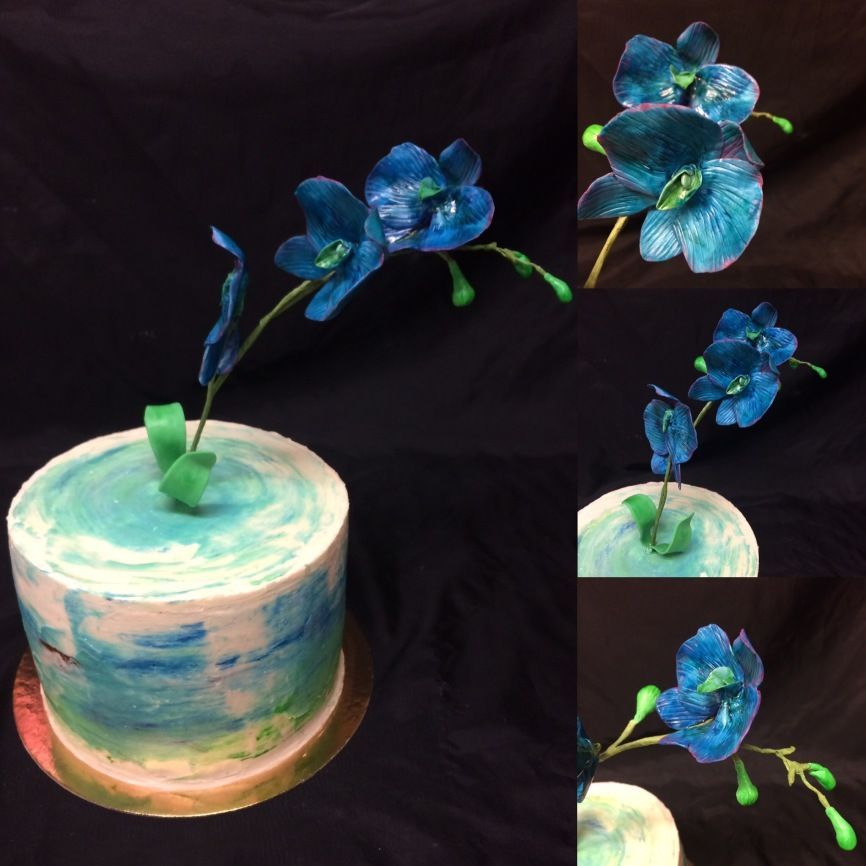 Blue Orchid cake