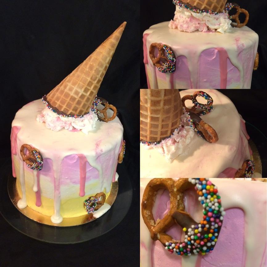 Melting ice cream con cake