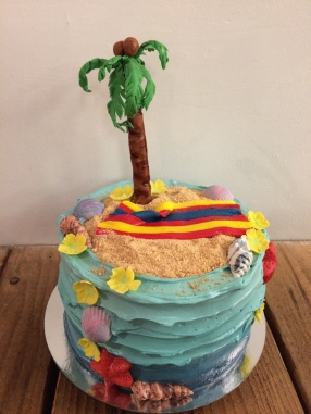 Fun times on the beach cake