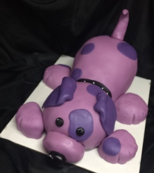 Purple puppy cake