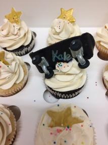 Skateboard birthday cupcakes