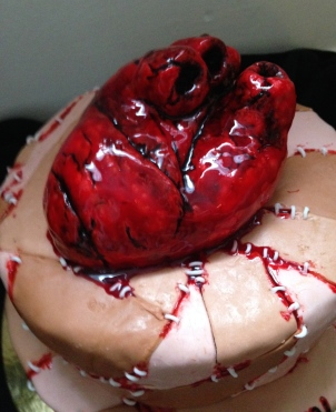 Bleeding heart skin patch cake