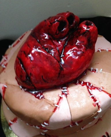 Bleeding heart skin patch cake