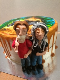 Motorcycle love cake