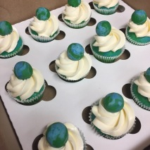 Planet earth cupcakes