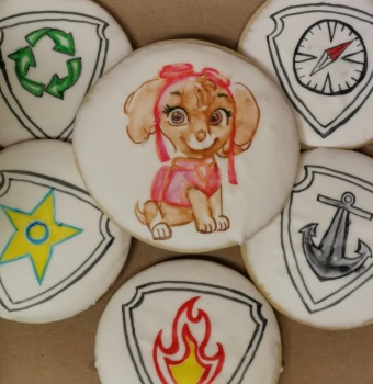 Hand painted Paw patrol cookies