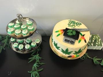 Weed paraphernalia cake