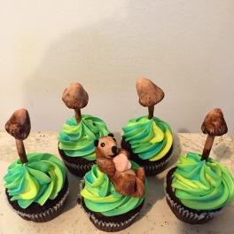 Psilocybin mushroom cupcakes