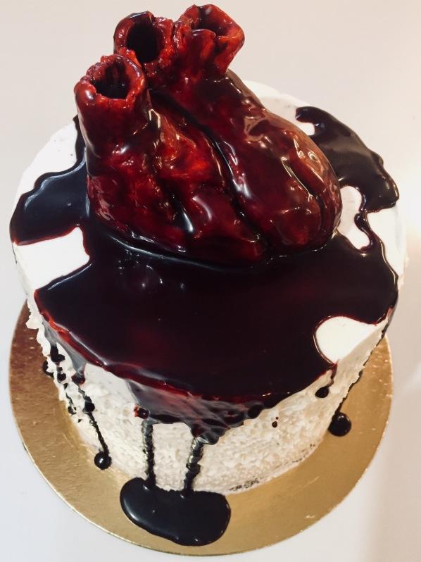Bleeding heart cake