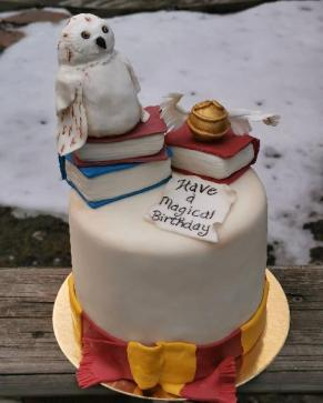 Harry Potter cake with hand made fondant details