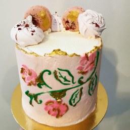 buttercream stencil cake