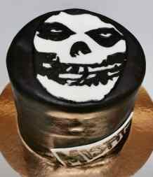 Misfits cake with handmade logo