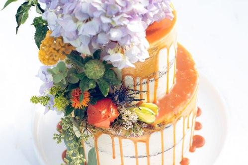 Chocolate salted caramel wedding cake