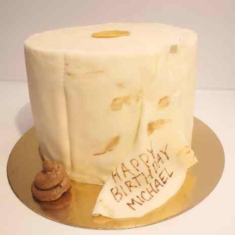 T.P. poop cake